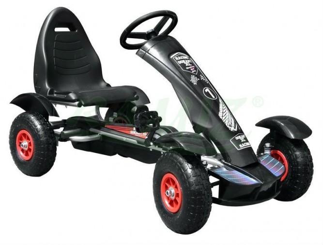 Šlapací čtyřkolka Go-Kart F618 - černá