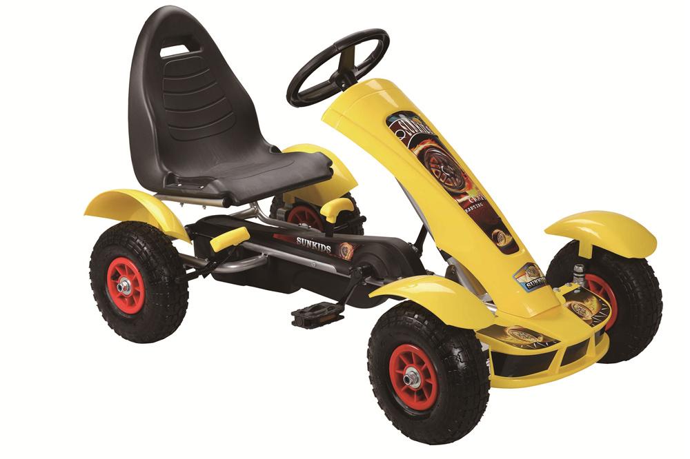 Šlapací čtyřkolka Go-Kart F618 - žlutá