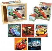 Dřevěné obrázkové kostky 9 ks