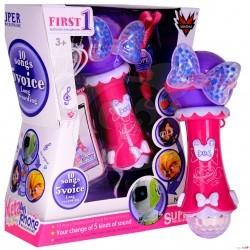Dětský mikrofon karaoke s nahráváním a světly