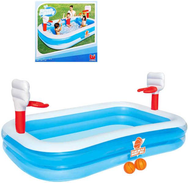 Bestway Dětský bazén basketball 254x168x102cm