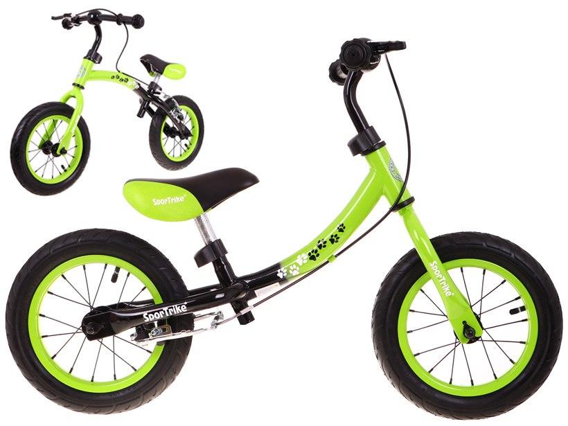 Dětské odrážedlo Boomerang 2v1 - zelené