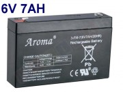 Gelová nabíjecí baterie 6 V - 7 Ah/20HR