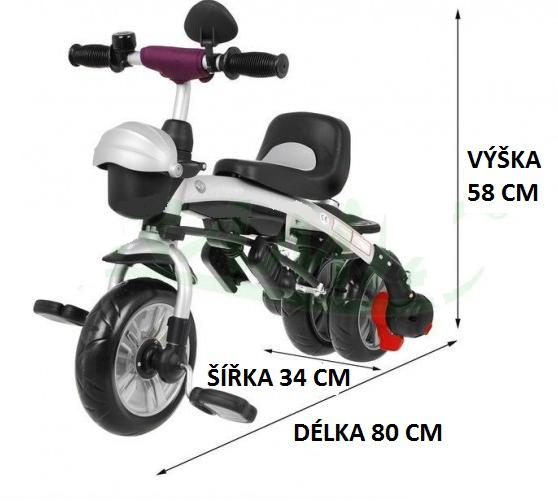 Tříkolka Sport Trike Explorer 3v1