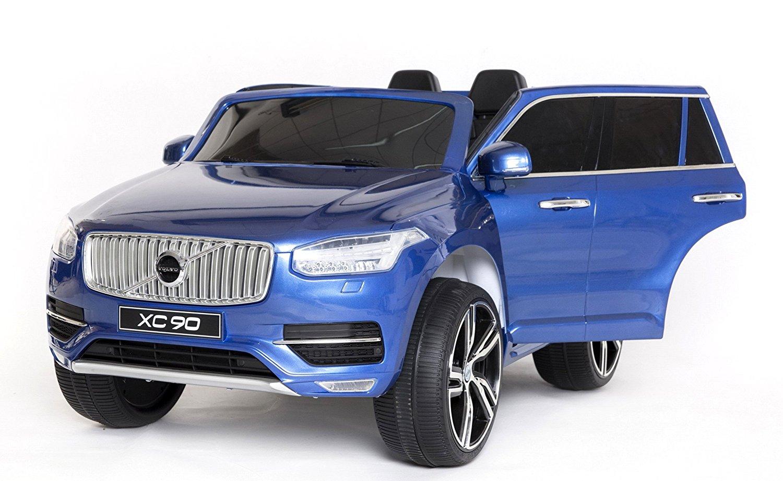 Elektrické autíčko Volvo XC90 2,4 GHz DO klíč dvoumístné, LAK - modré