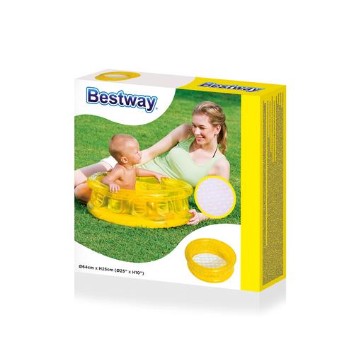 BESTWAY 51112 - Nafukovací bazének 64 cm - žlutý