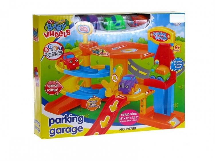 Dětský parking se 3 autíčky P5788