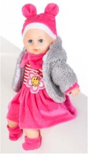 Mluvící panenka v kožíšku 32 cm