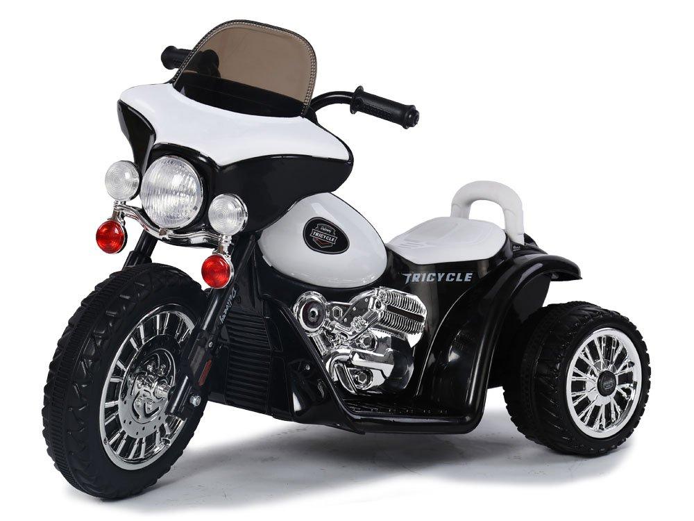 Dětská elektrická motorka Harley 6V - černá