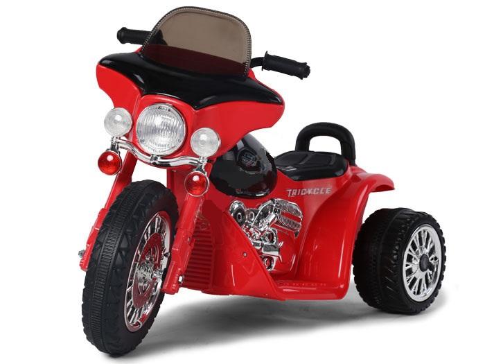 Dětská elektrická motorka Harley 6V - červená