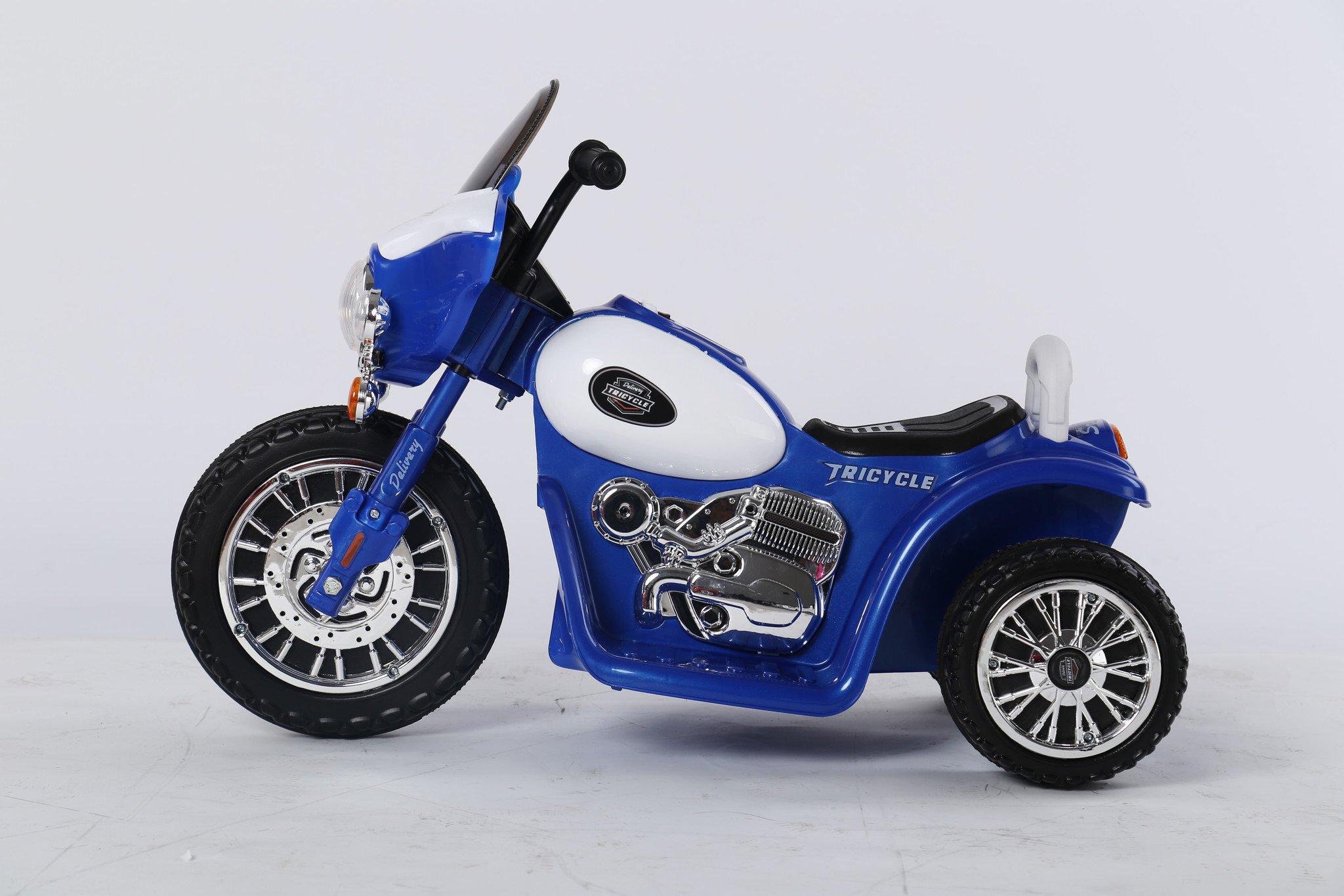 Dětská elektrická motorka Harley 6V - modrá