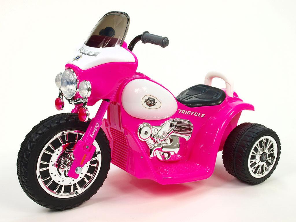 Dětská elektrická motorka Harley 6V - růžová