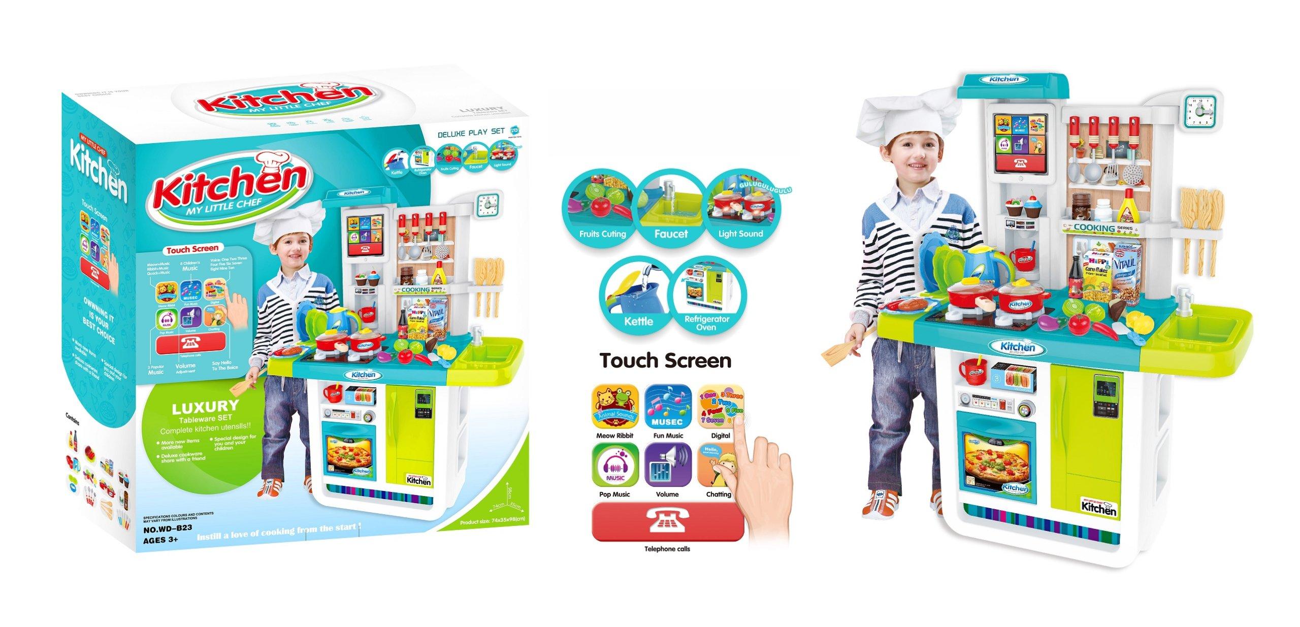 Dětská kuchyňka s dotykovým panelem