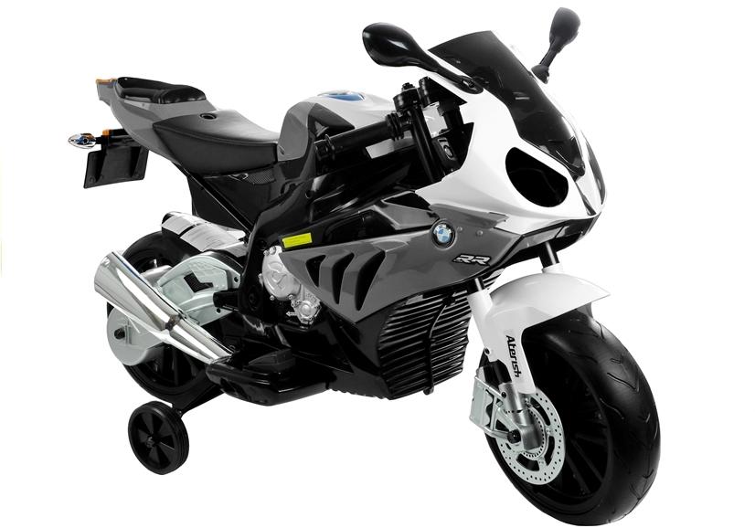 BMW S1000 Dětská elektrická motorka - stříbrná