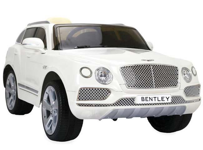 Elektrické autíčko Bentley Bentayga, 2.4GHz, kožená sedačka - bílé