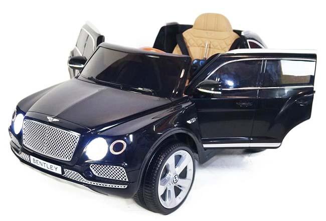 Elektrické autíčko Bentley Bentayga, 2.4GHz, kožená sedačka - černé