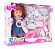 Doris funkční panenka s příslušenstvím 34 cm