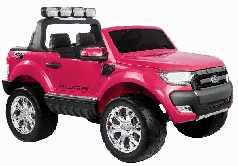 Elektrické autíčko Ford Ranger Wildtrak Luxury 2020, LCD, Lak - růžové