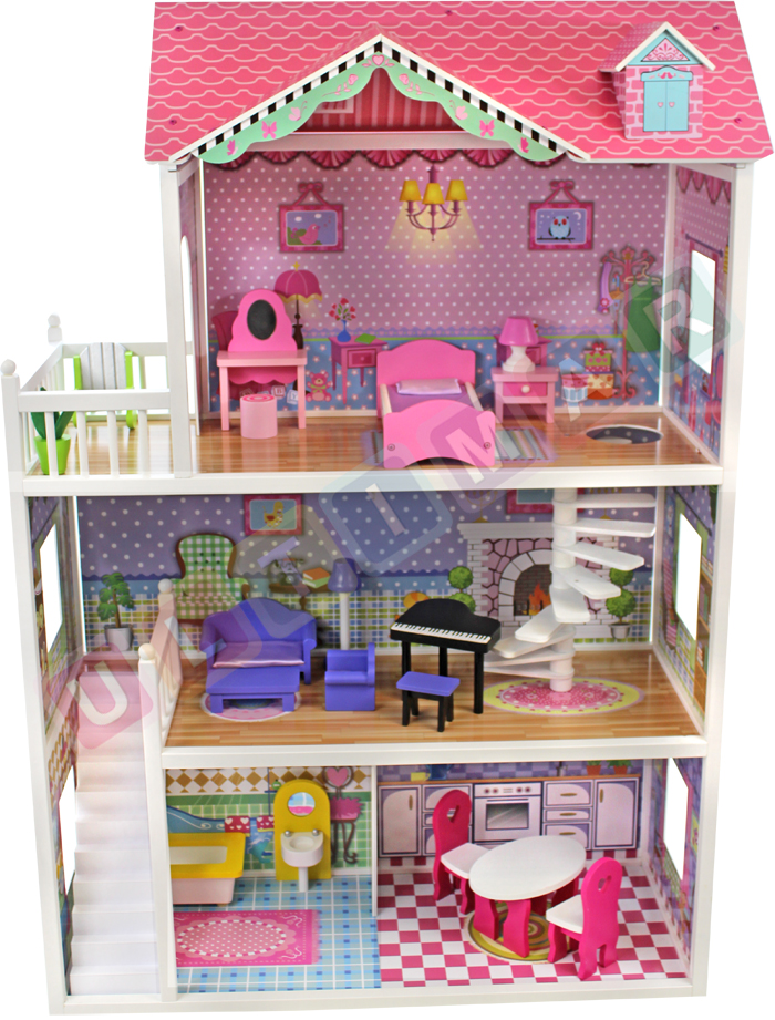 Tima velký dřevěný domeček pro panenky