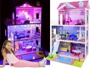 Tima velký dřevěný domeček pro panenky S LED
