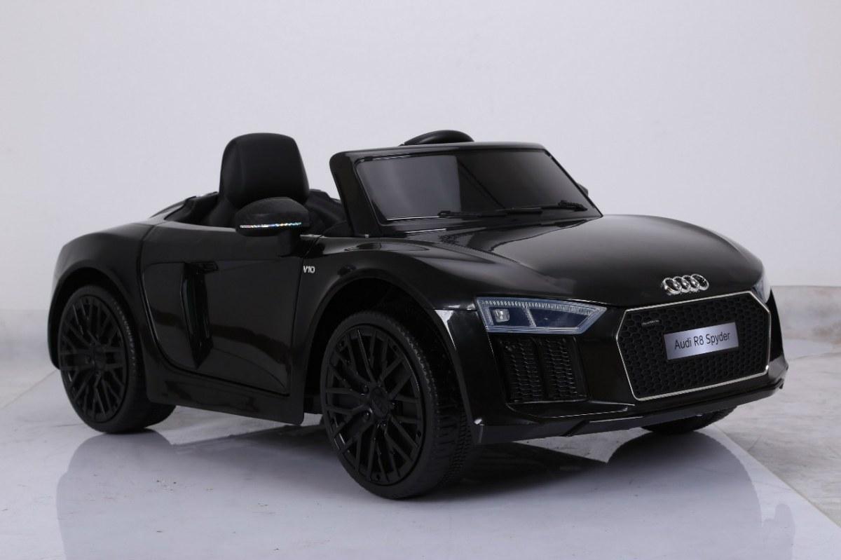 Dětské elektrické autíčko Audi R8 Spyder 2,4Ghz Lak - černé