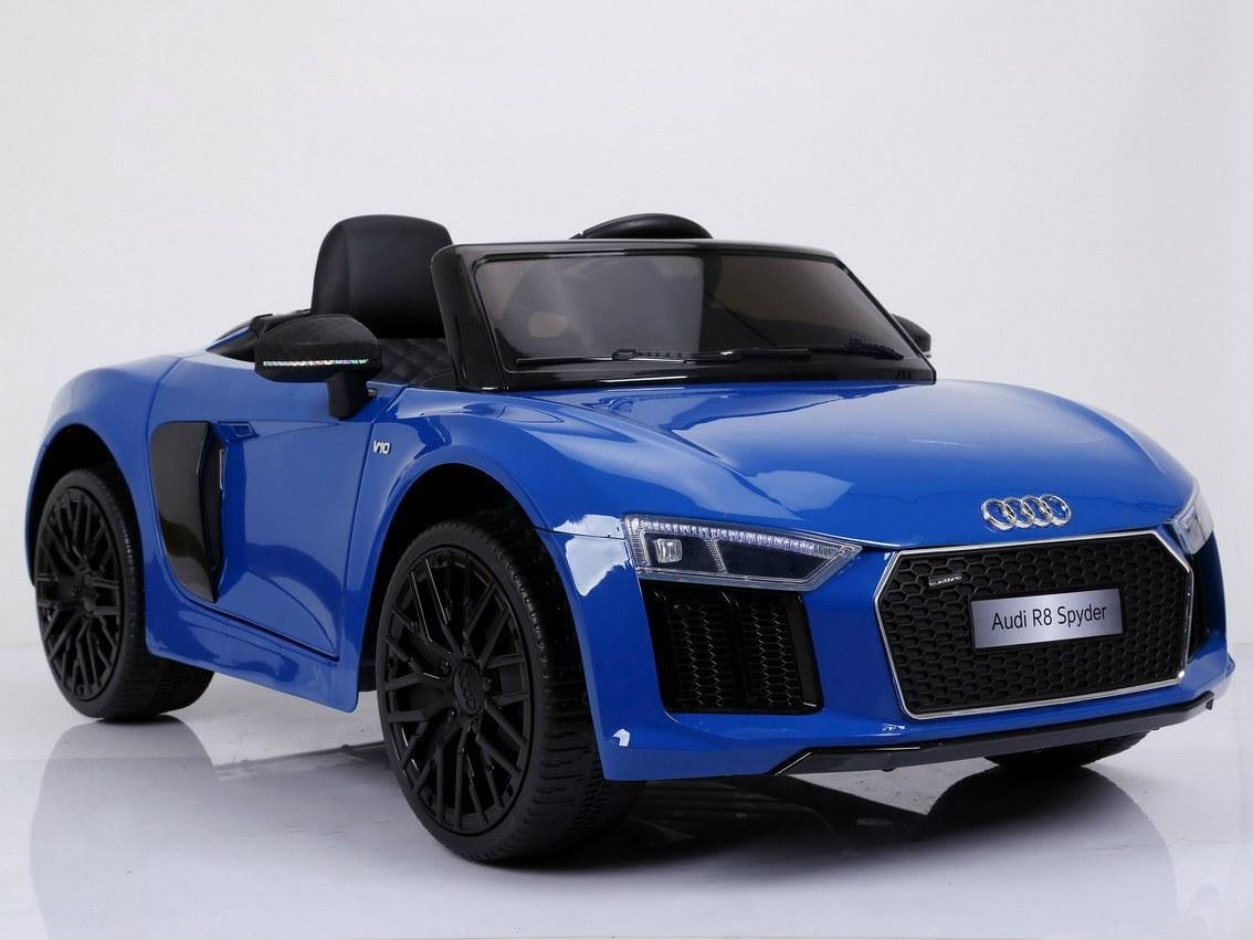 Dětské elektrické autíčko Audi R8 Spyder 2,4Ghz Lak - modré