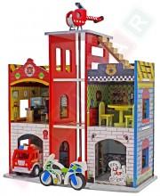 Dřevěná policejní a hasičská stanice 2v1