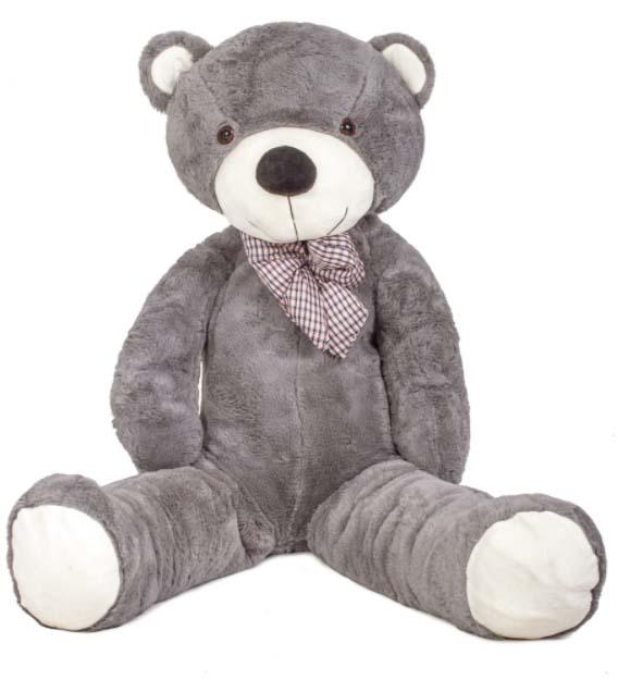 DORIS Velký plyšový medvěd 180 cm - šedý