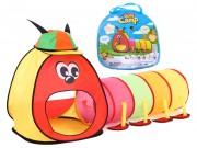 Dětský stan s tunelem stonožka