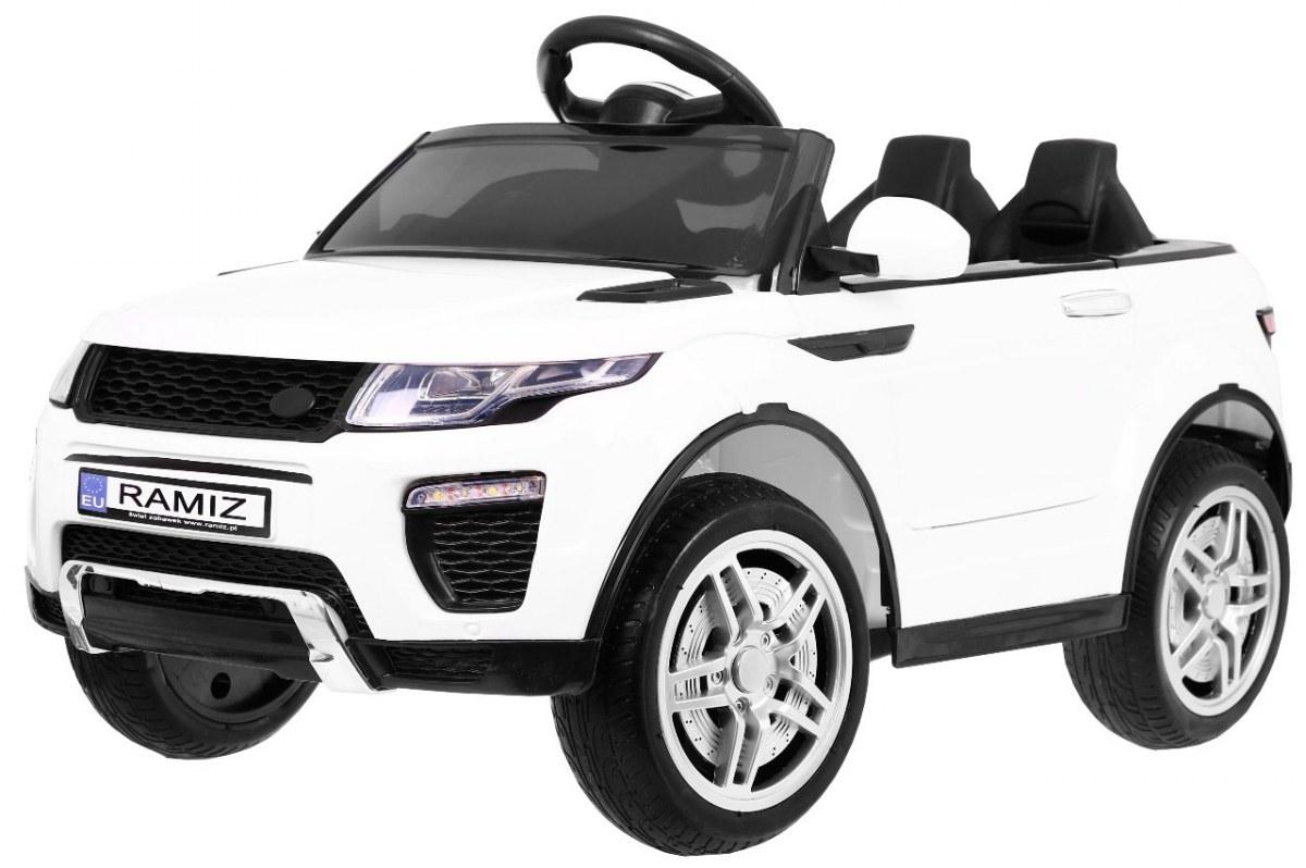 Sportovní elektrické auto Rapid Racer - bílé