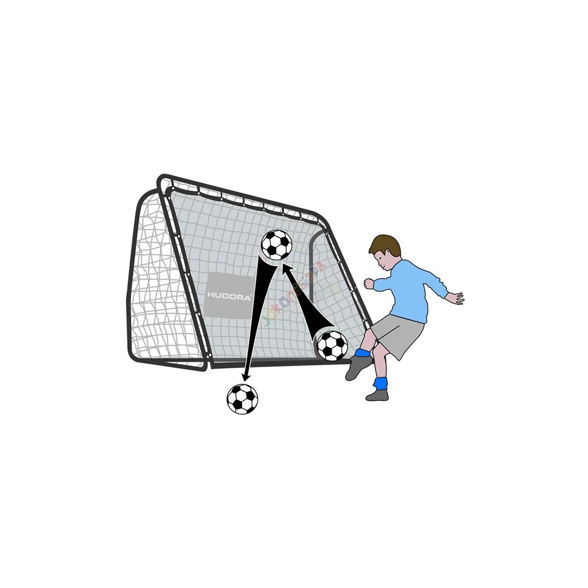 Hudora fotbalová branka Rebound 2v1