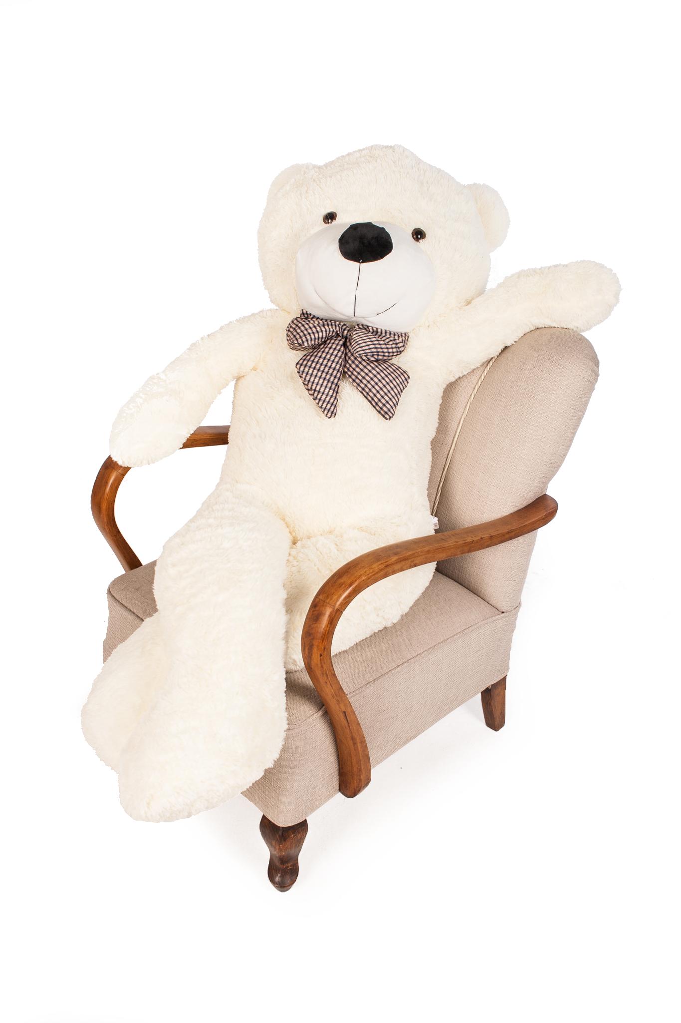 Velký plyšový medvěd 160 cm bílý
