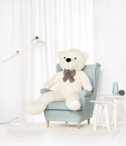 Velký plyšový medvěd Classico 150 cm bílý