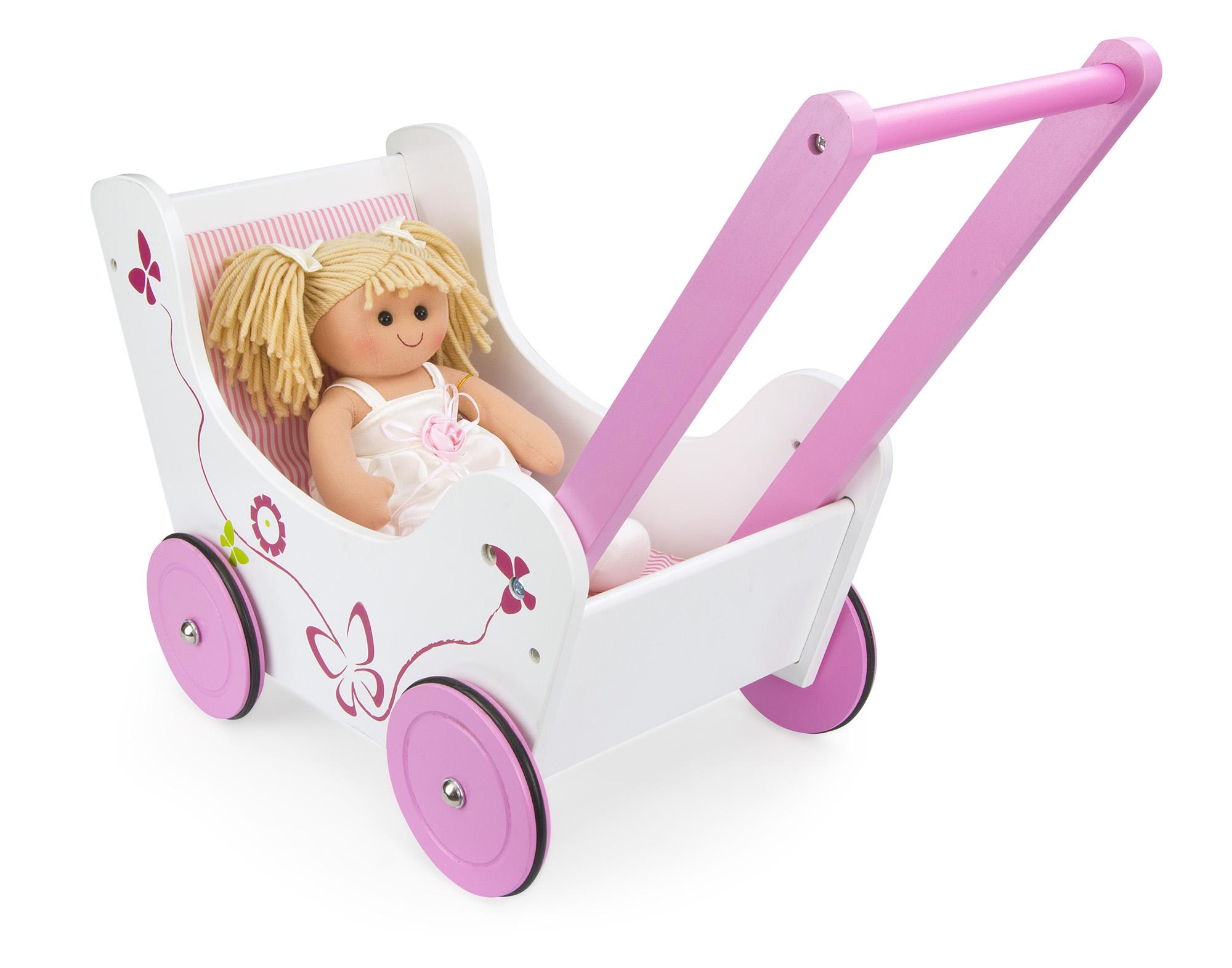 DORIS dřevěný kočárek pro panenky