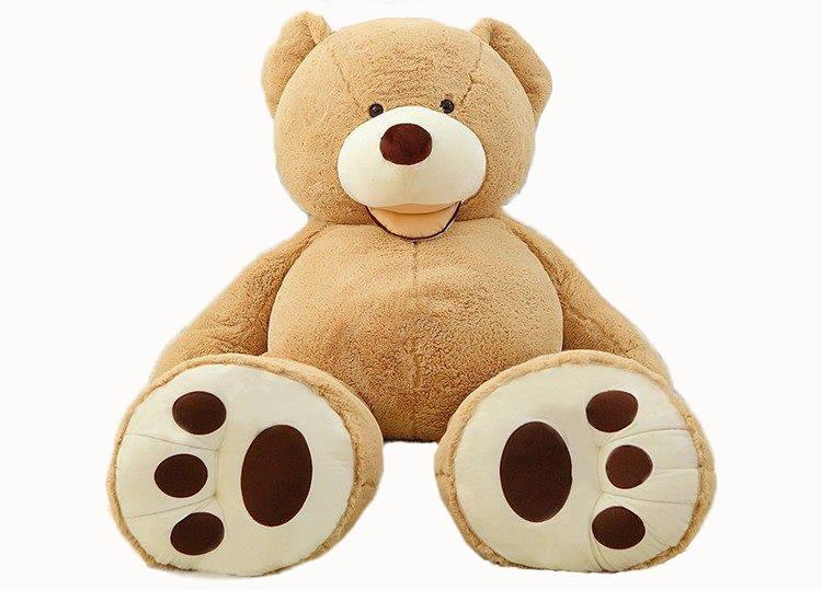 Velký medvěd XXL plyšák 160 cm - světle hnědý