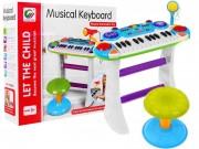 Dětské klávesy s mikrofonem a taburetem