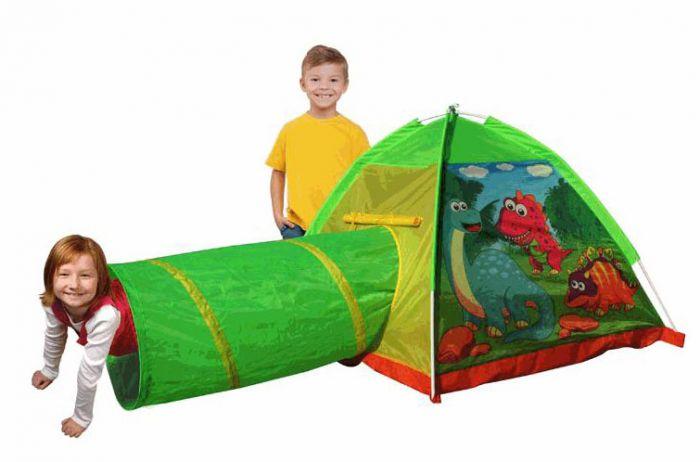 Dětský stan s motivem dinosaura