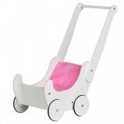EcoToys Dřevěný kočárek pro panenky Eco Toys