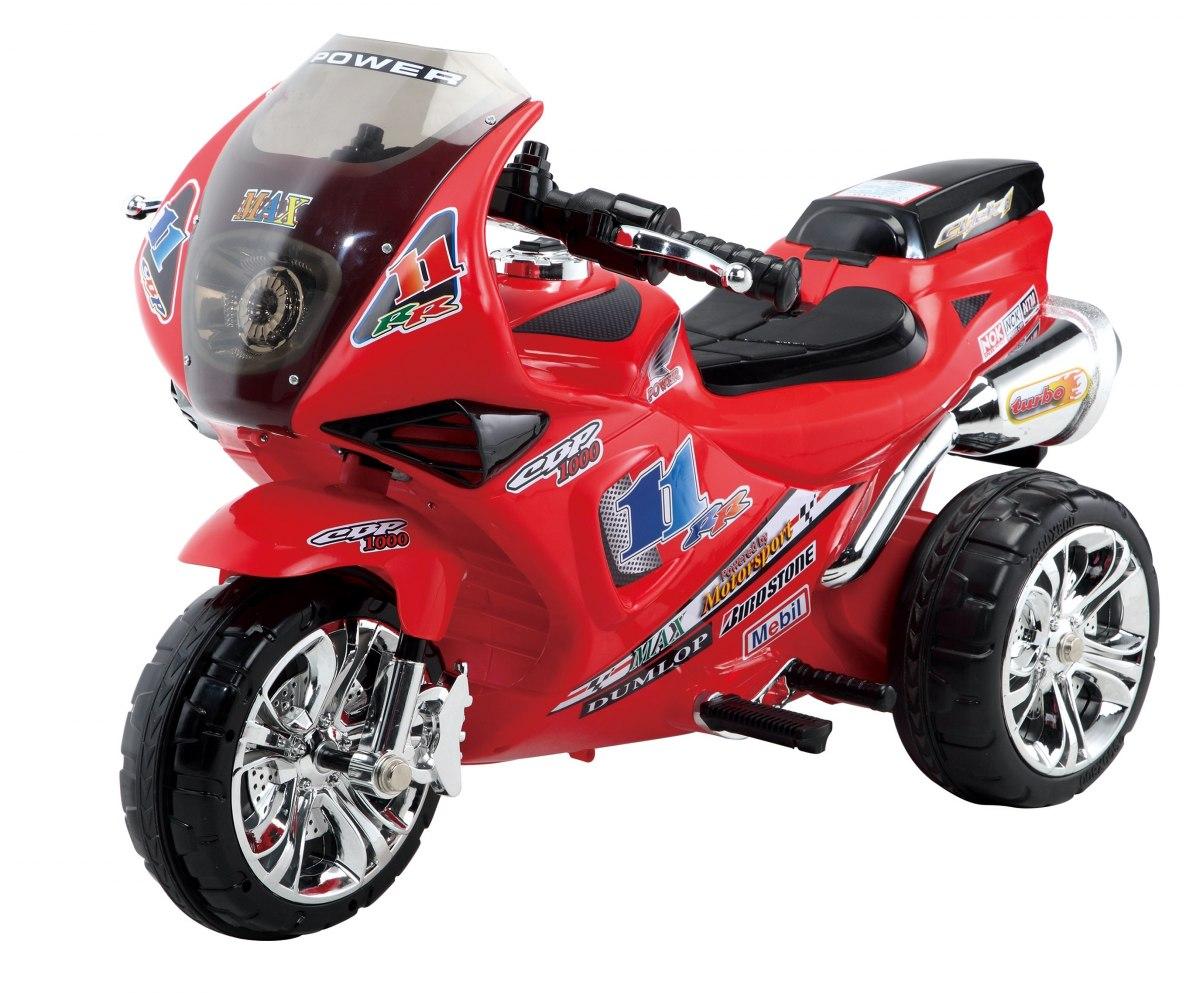 Sportovní elektrická motorka Baby Mix - červená