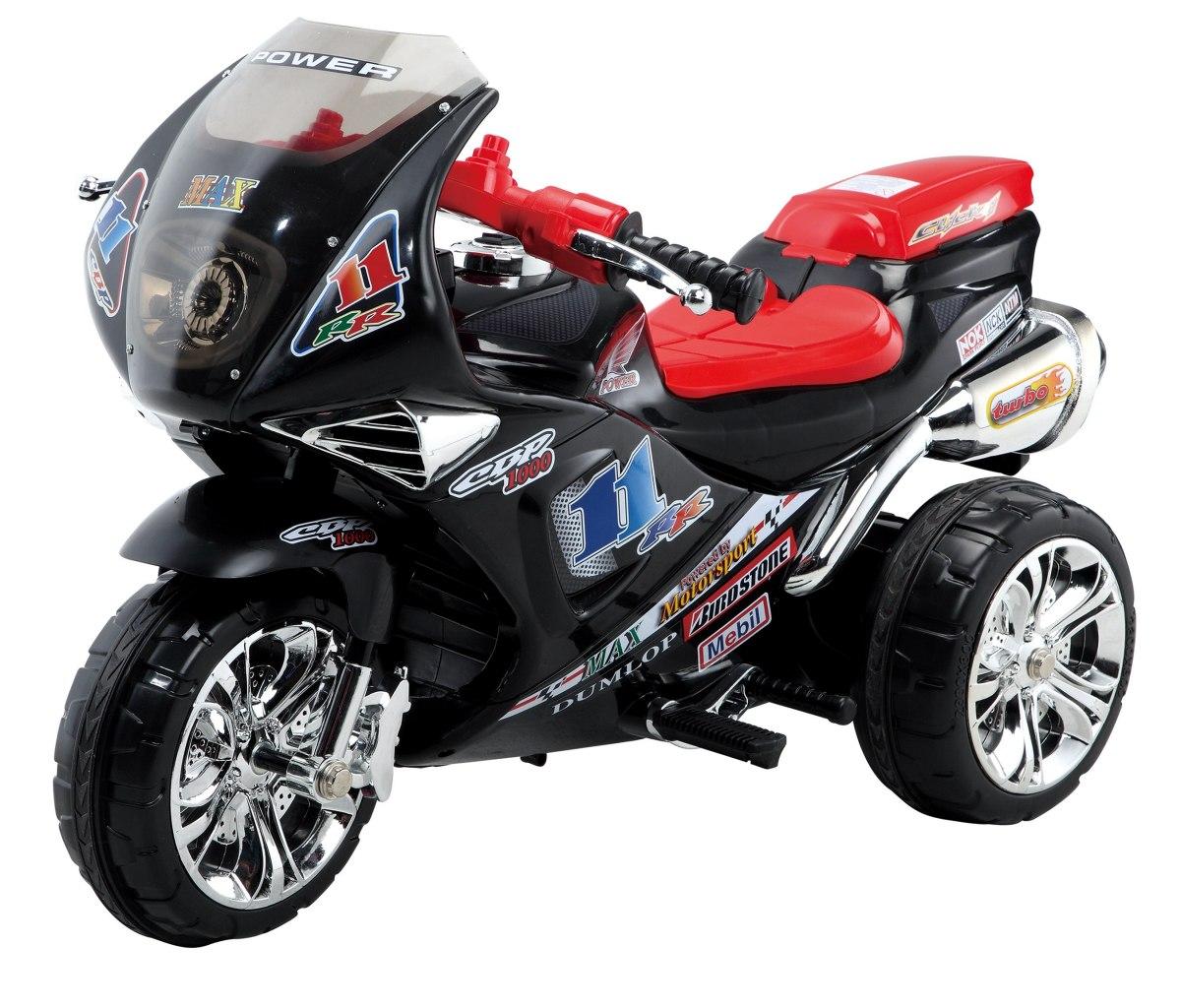 Sportovní elektrická motorka Baby Mix - černá