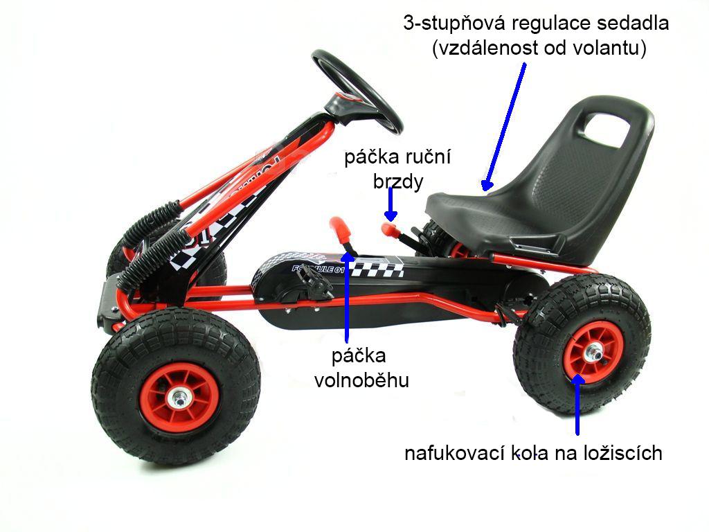 Šlapací motokára GM115