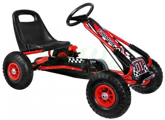 Dimix Šlapací motokára GM115 - červená