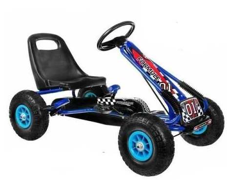 Dimix Šlapací motokára GM115 - modrá