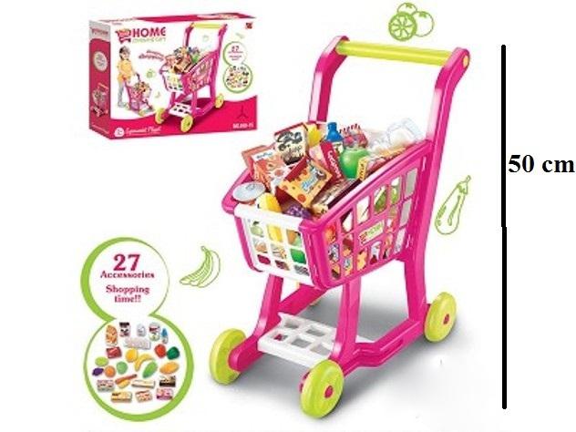 Dětský nákupní vozík s příslušenstvím