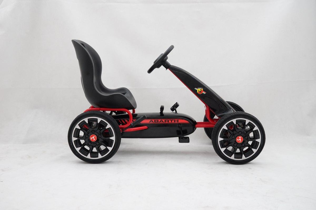 ABARTH black šlapací motokára