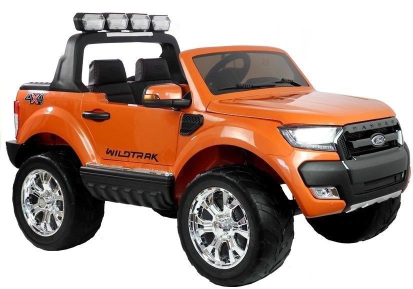 Elektrické autíčko Ford Ranger Wildtrak Luxury 2020, LCD - oranžové