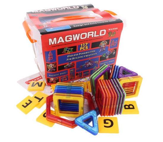 Doris interaktivní magnetická stavebnice 117ks