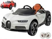 Elektrické autíčko Bugatti Chiron, kožená sedačka, 2.4GHz