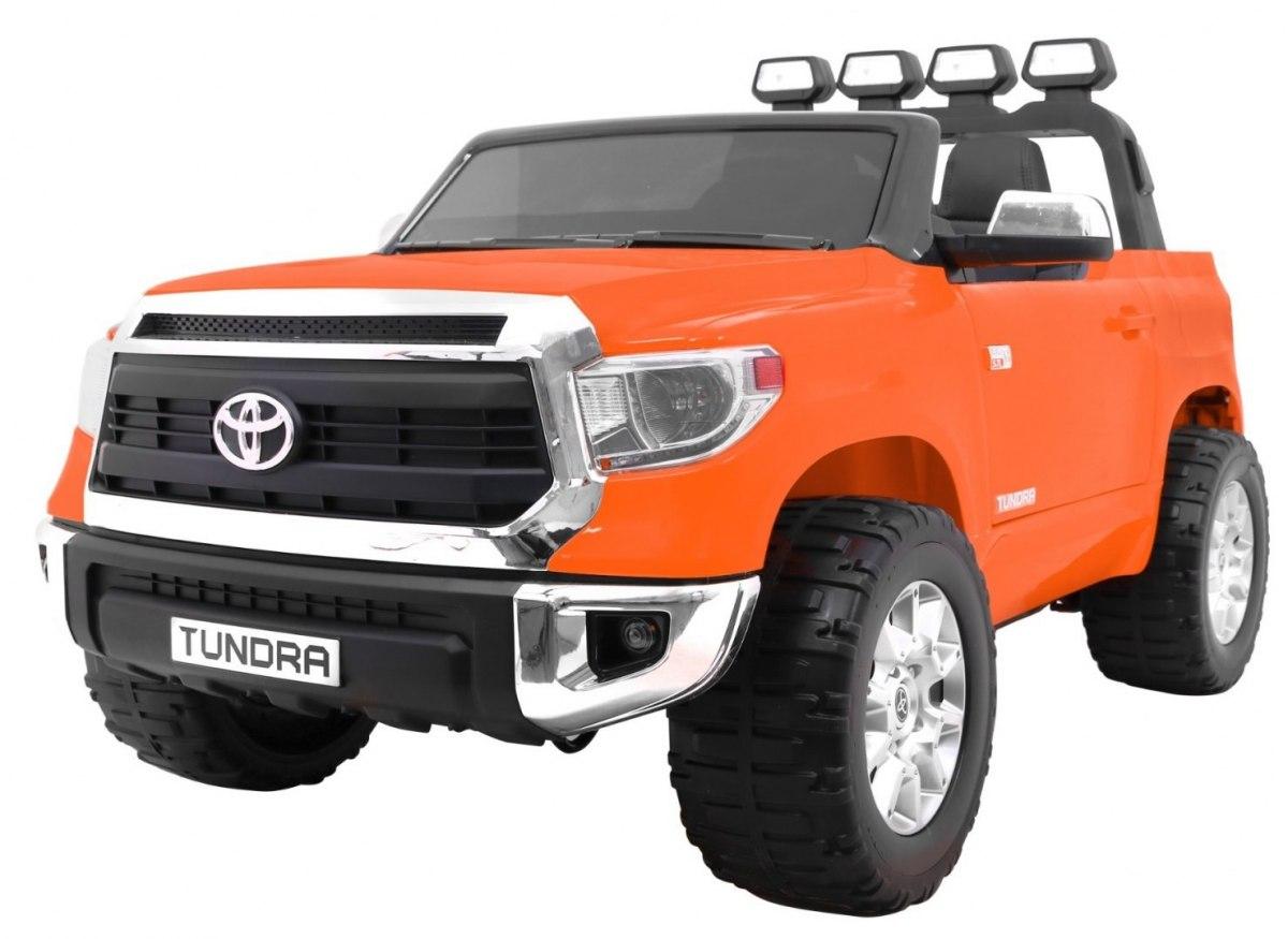 Elektrické autíčko Dvoumístná Toyota Tundra 24V XXL, 2.4GHz, EVA kola - oranžová