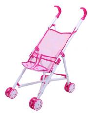 Golfový kočárek pro panenky růžový